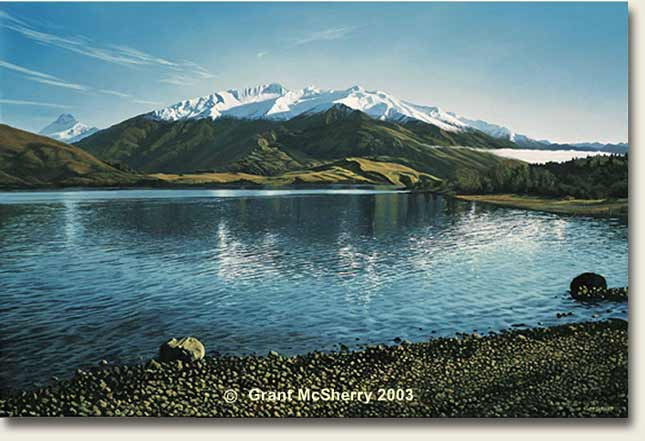 Glendhu Bay, Lake Wanaka painting by Grant McSherry