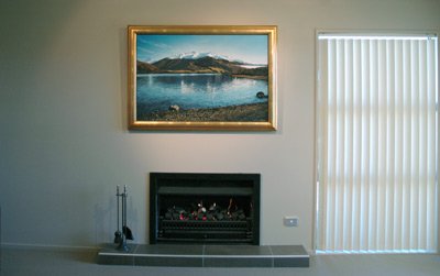 The original, 'Glendhu Bay' by Grant McSherry is a large size oil painting, finished in a hand crafted, gold leaf frame.